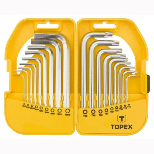 Imbuszkulcs készlet TX10 - 30, 18 részes